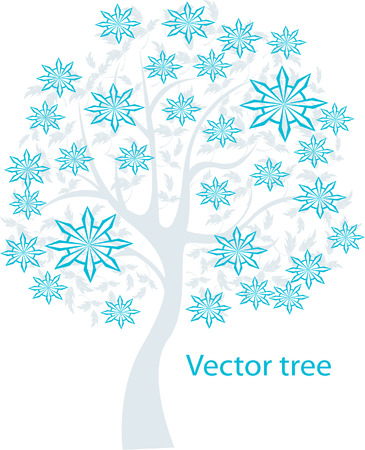 treetop: Vector illustration of tree on white background - Illustration Illustration