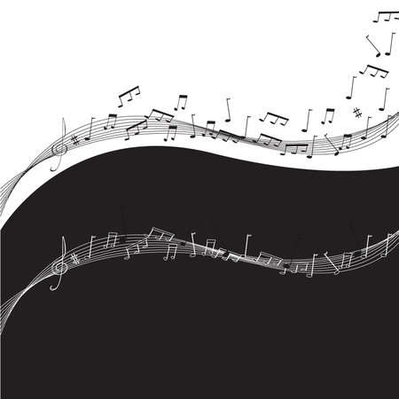 musik: Vector background  note staff musik - Illustrationstaff - Illustration
