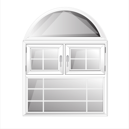 non   urban scene: Vector Windows Plastic Glosed illustration interior White