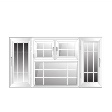 non  urban scene: Vector Windows Plastic Glosed illustration interior White