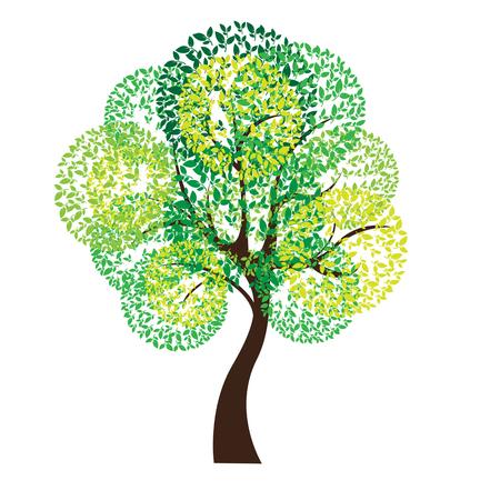 raíz de planta: Ilustración del vector del árbol en el fondo blanco - ilustración Illustrationr del árbol en el fondo blanco - ilustración Vectores