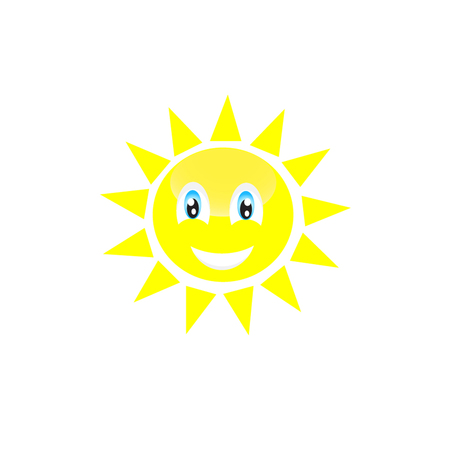 incomprehensible: vector isolated sun smaile icon illustration on background Illustration