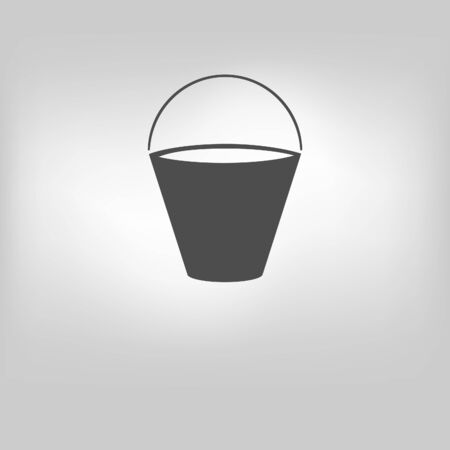 filing tray: Bucket icon on gray background. Vector illustration. Illustration