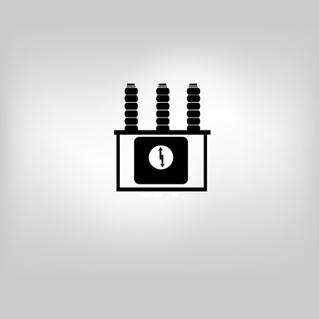 filing tray: Bucket icon on gray background Illustration