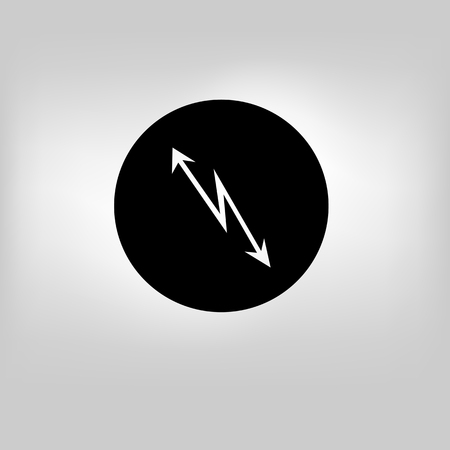 Bucket icon on gray background Illustration