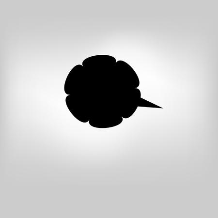 Vector moder banner icon bubble speesh