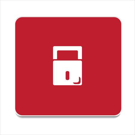 vector icon to close the lock