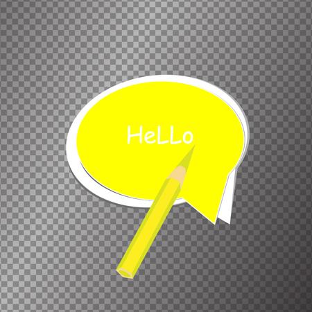 speech buble: Vector moder banner icon bubble speech