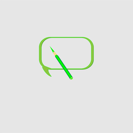 speech buble: Vector moder banner icon bubble speesh
