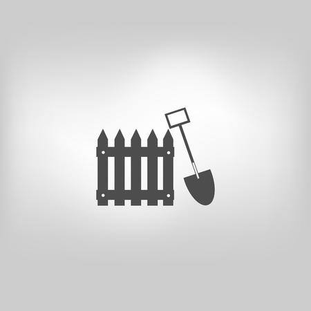 Vector icon fence, fencing