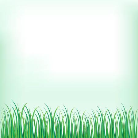 Grass nature flowers Иллюстрация