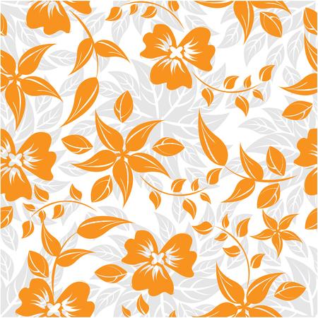 Seamless flowers pattern, vector illustration.