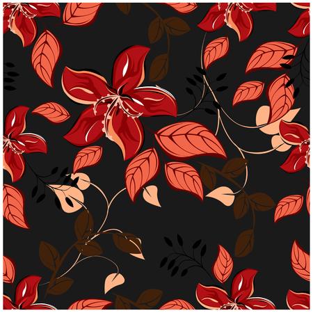 seamless flowers pattern  イラスト・ベクター素材