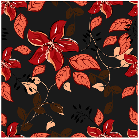 seamless flowers pattern 일러스트