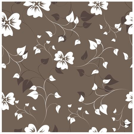vector seamless pattern flowers and floral pattern illustration Ilustracja