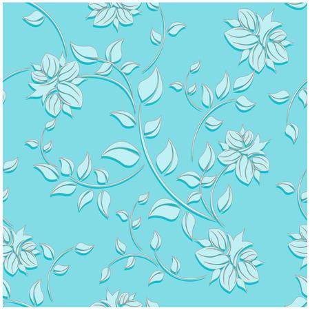 seamless flowers pattern Ilustracja