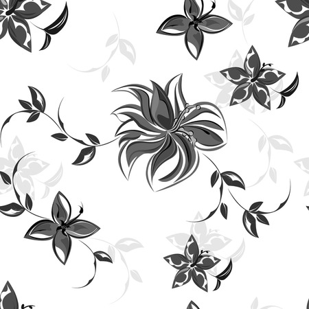 Vector background seamless flowers and floral pattern Ilustracja