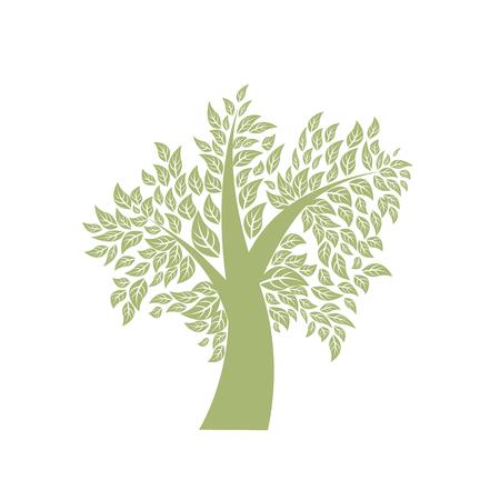 Vector tree illustration on isolated white backgrounde Ilustracja