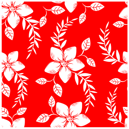 Vector abstract background seamless flowers and floral pattern Ilustracja