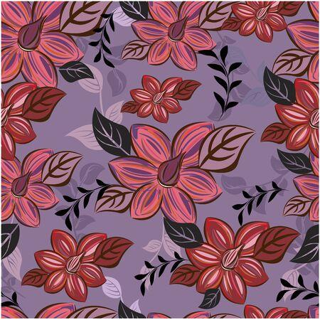 Nahtlose Blumen des abstrakten Hintergrundes des Vektors und Blumenmuster