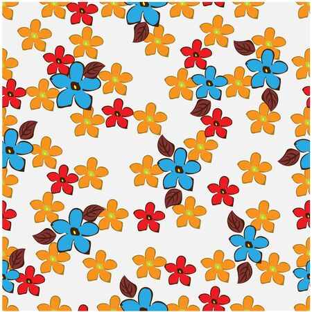 abstract background seamless flowers and floral pattern