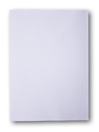 White paper on the white background photo