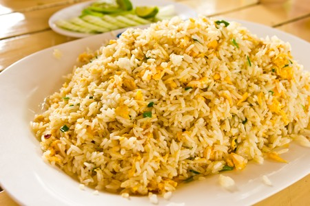 crap: Crap Fired Rice Stock Photo