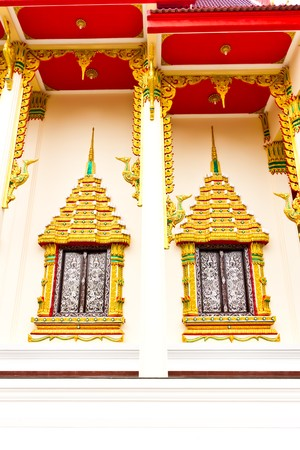 Thai Temple Windows photo