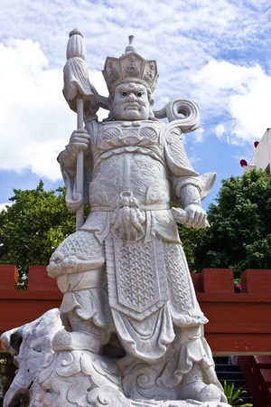 imperialism: The chinese warrior statue Stock Photo