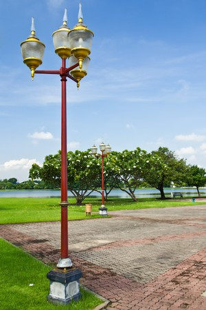 The lamp in the park Stock Photo - 7860598