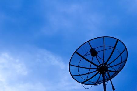 sattelite: sattelite antenna Stock Photo