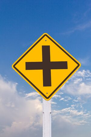 intersecttion warning sign  Stock Photo - 8108439
