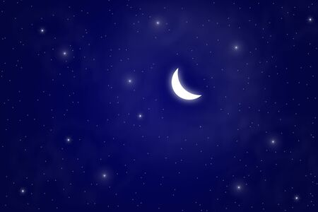 abstract of moon and star - illustration illustration
