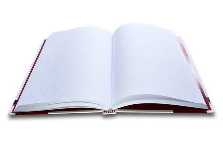 white notebook on white background photo