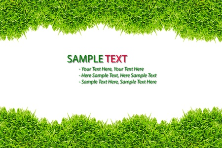 green grass frame isolated on white background Stock Photo - 8375850