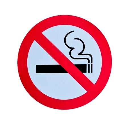 geen rookvrije waarschuwing geïsoleerd