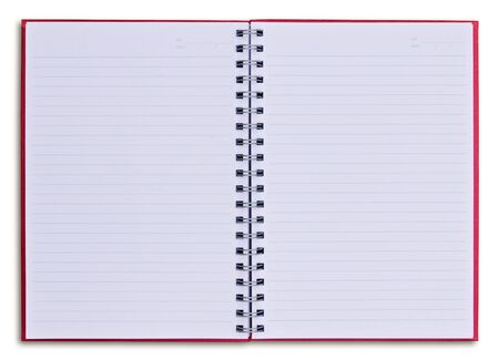 red notebook isolated on white background Stock Photo - 8390228