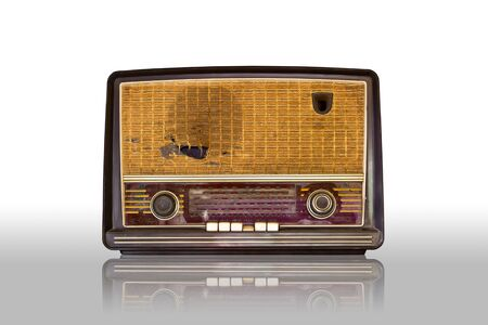 old vintage radio isolated on white background Stock Photo - 8428656