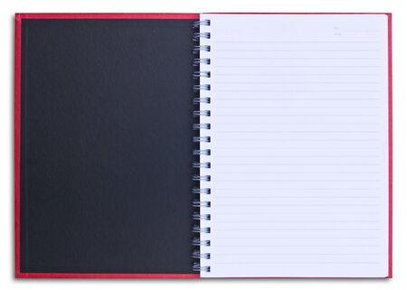 red notebook isolated on white background Stock Photo - 8428649