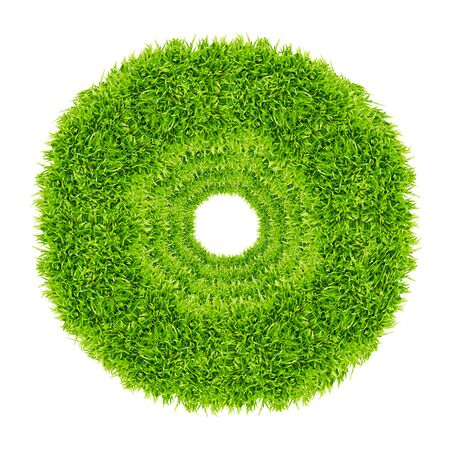 green grass circle frame isolated on white background Stock Photo - 8671224