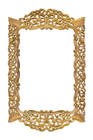 gilt: wood photo image frame isolated on white background