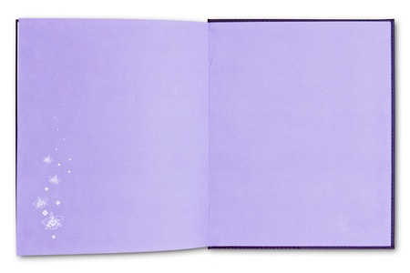 purple notebook isolated on white background Stock Photo - 8671137