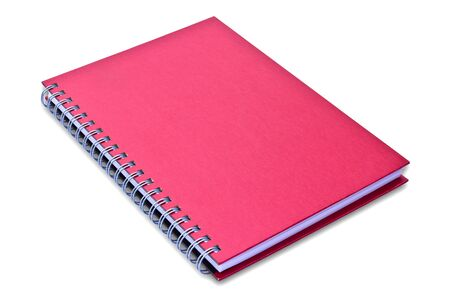 red notebook isolated on black background Stock Photo - 8671108