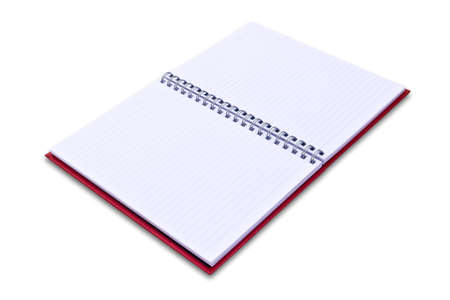 red notebook isolated on black background Stock Photo - 8671073