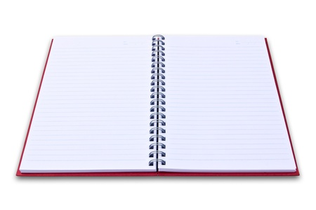 red notebook isolated on black background Stock Photo - 8671095