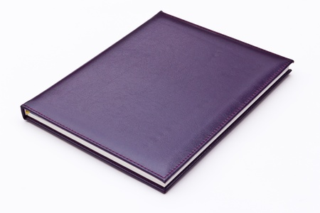 purple notebook isolated on white background Stock Photo - 8671134