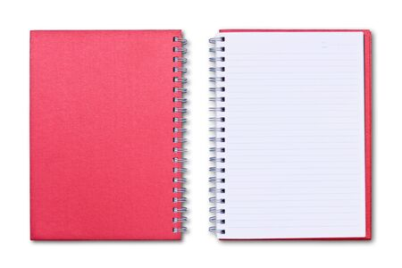 red notebook isolated on white background Stock Photo - 8671189