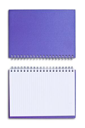 purple notebook isolated on white background Stock Photo - 8671191