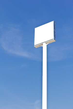 blank sign label against blue sky Stock Photo - 8671126
