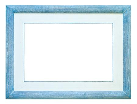 photo art: wood photo image frame isolated on white background